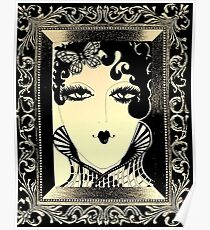 ART DECO Dolly in picture frame , Jacqueline Mcculloch House of Harlequin Poster