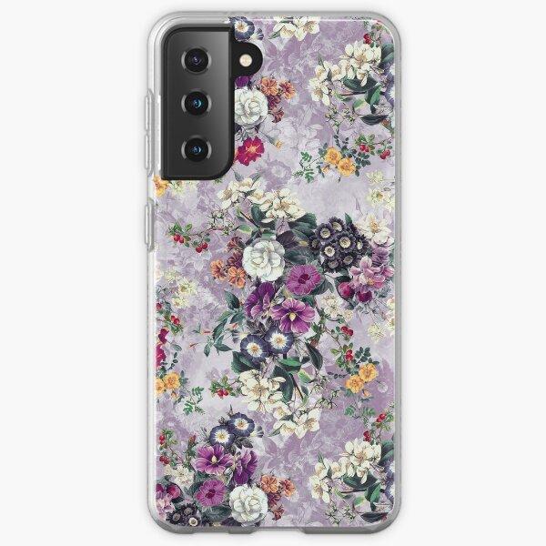 Botanical Flowers Purple Samsung Galaxy Soft Case