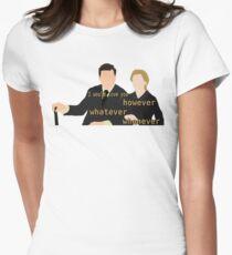 DA: Anna e Bates + quote Women's Fitted T-Shirt