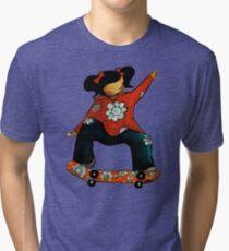 Skater Girl TShirt by Karin Taylor Tri-blend T-Shirt