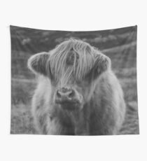 Highland cow III Wall Tapestry