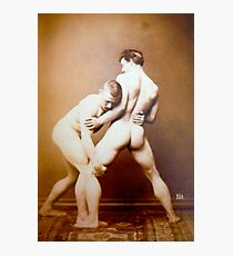 SPORTS / Nude wrestlers Photographic Print