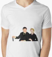 DA: Anna e Bates Men's V-Neck T-Shirt