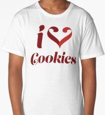 I Love Cookies Long T-Shirt