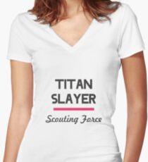 Titan Slayer Women's Fitted V-Neck T-Shirt
