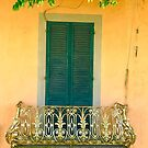 Window & Balcony in Lucca by Christine  Wilson