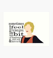 DA: Edith + quote Art Print