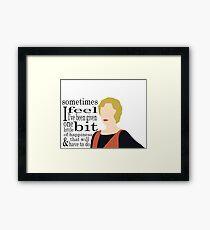 DA: Edith + quote Framed Print