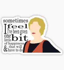 DA: Edith + quote Sticker
