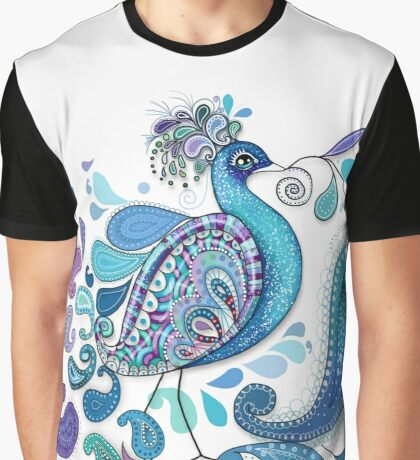 Paisley Peacock Graphic T-Shirt