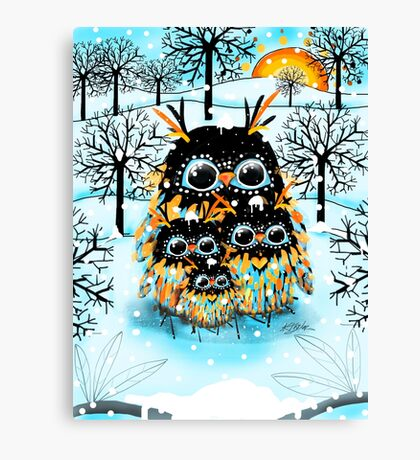 snow owls Canvas Print