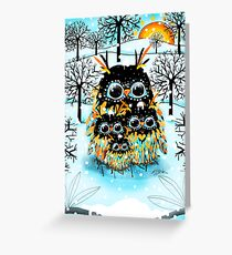 snow owls Greeting Card