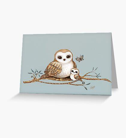 Baby Barn Owl Greeting Card