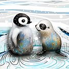 Penguin Chick and Baby Seal by Karin Taylor
