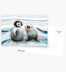 Penguin Chick and Baby Seal Postcards