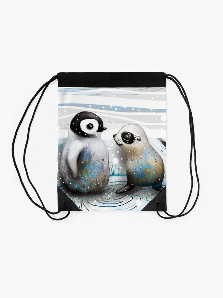 Alternative Ansicht von Pinguin-Küken und Baby-Dichtung Turnbeutel