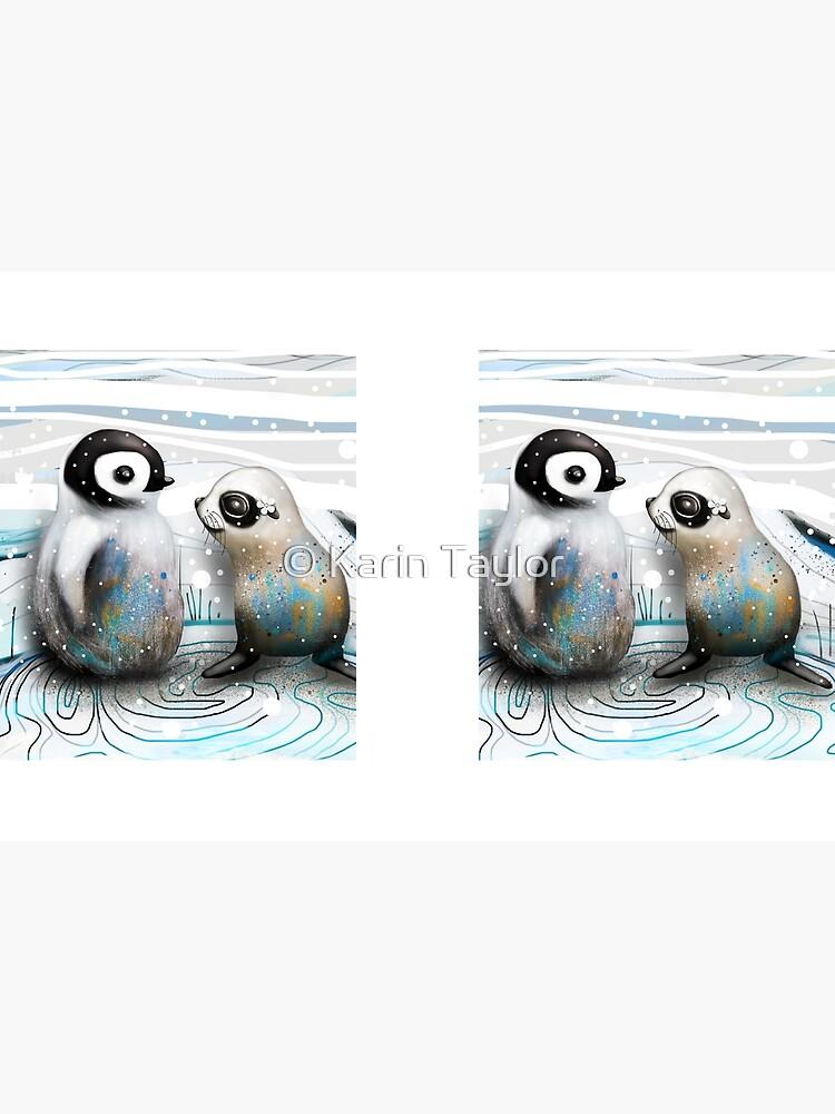Pinguin-Küken und Baby-Dichtung von karin