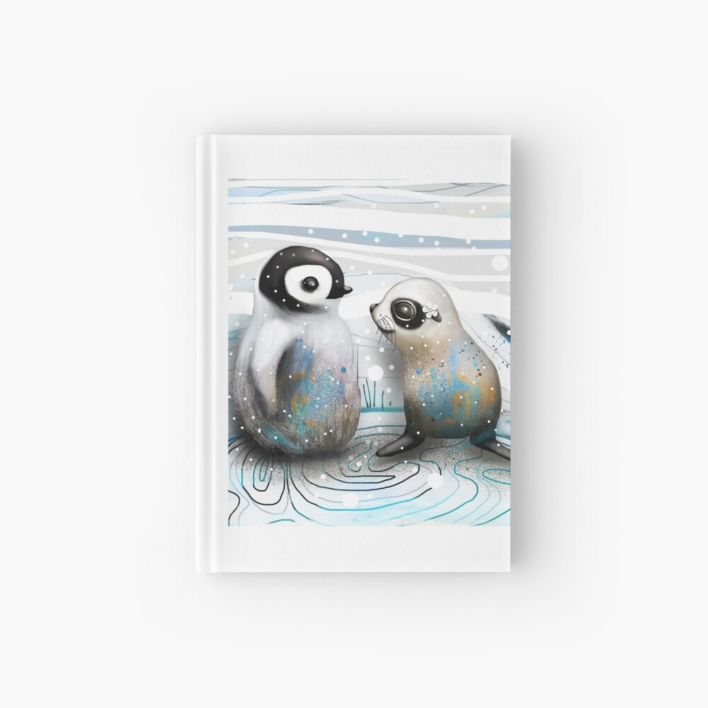 Pinguin-Küken und Baby-Dichtung Notizbuch