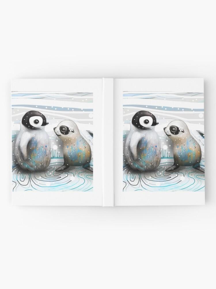 Alternative Ansicht von Pinguin-Küken und Baby-Dichtung Notizbuch