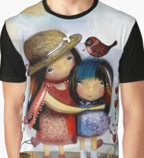 Love and Friendship Graphic T-Shirt