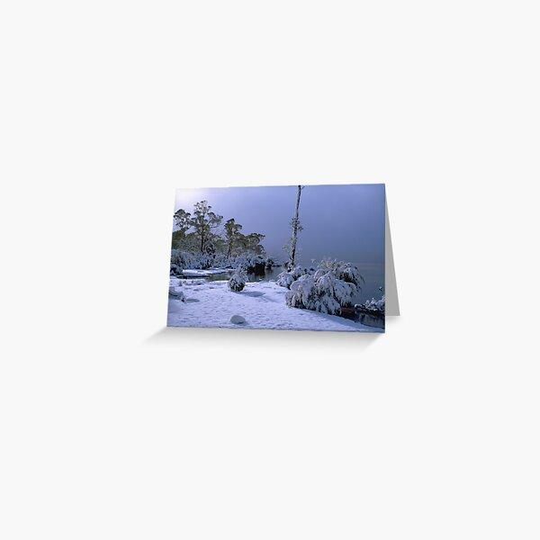 Lake St Clair, Winter, Tasmania Greeting Card