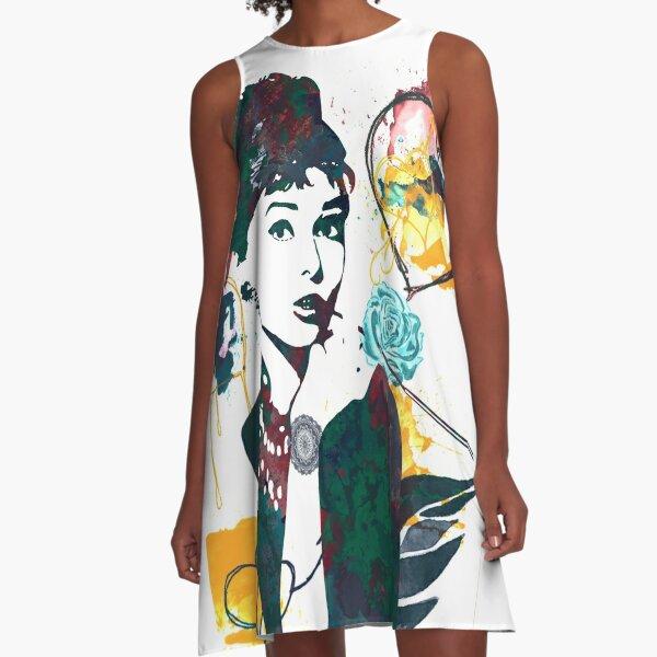 Audrey Hepburn nature colours A-Line Dress
