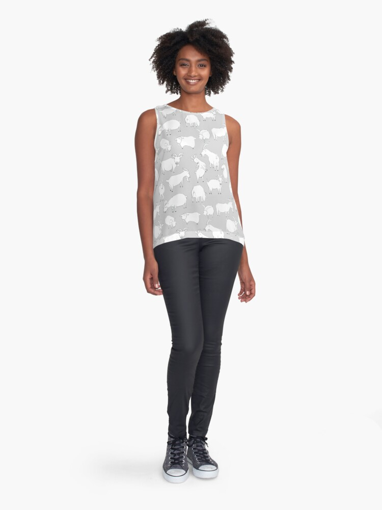 Alternate view of Charity Fundraiser - Grey  Goats Sleeveless Top