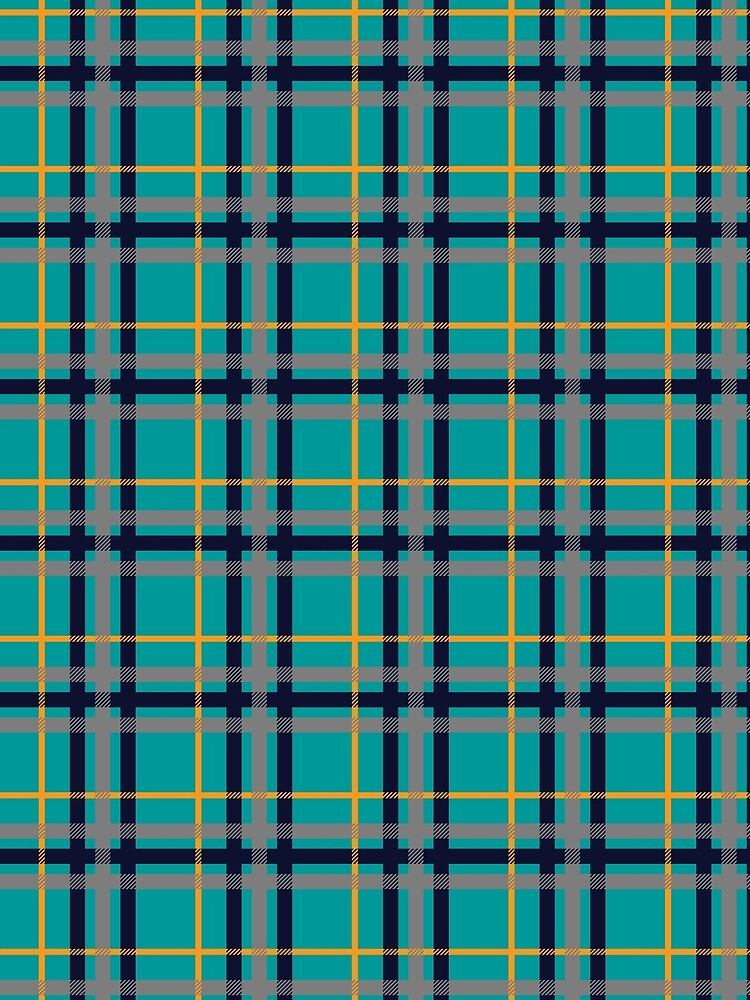 Blue and Orange Plaid by ValerieDesigns