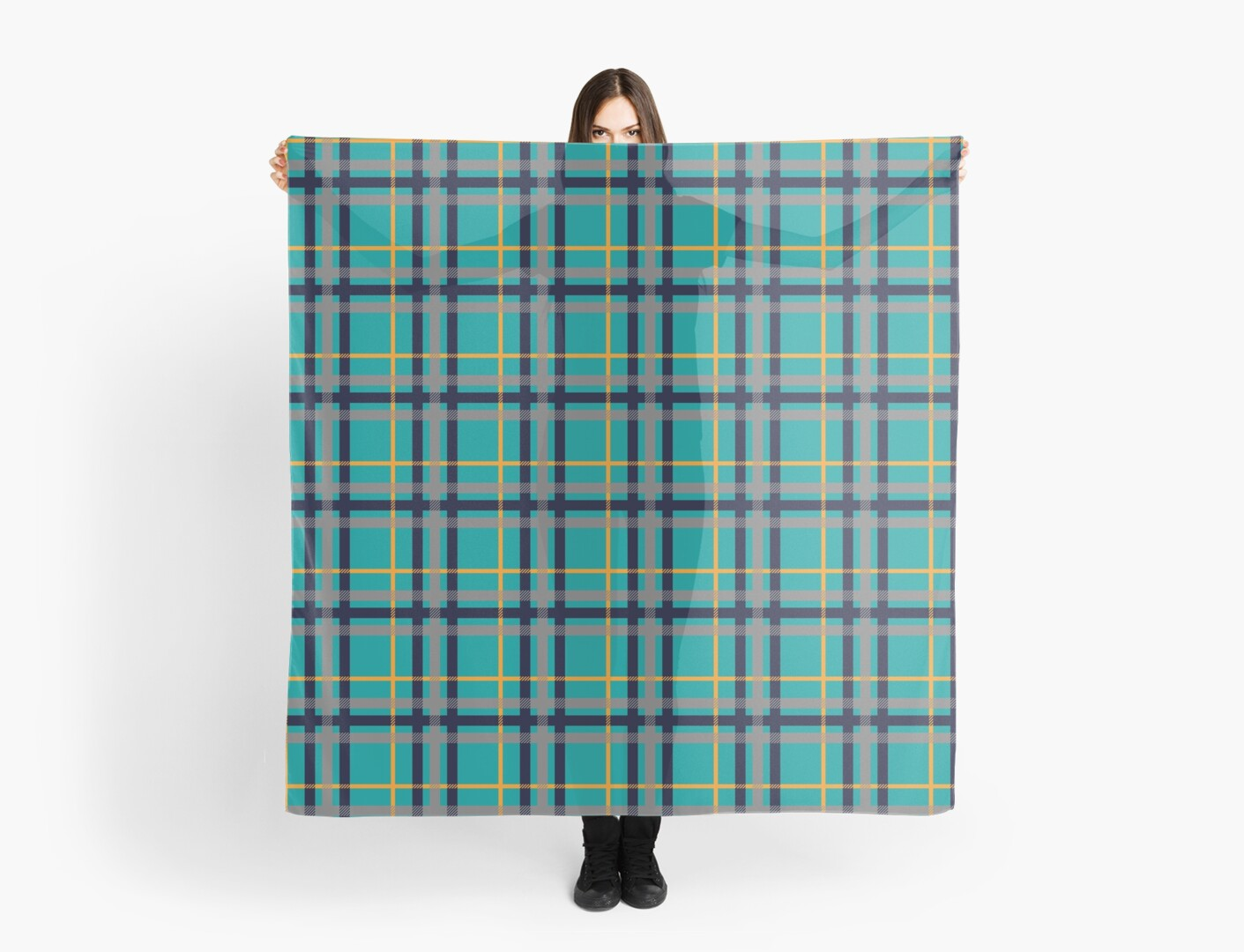 Blue and Orange Plaid by Valerie Hartley Bennett