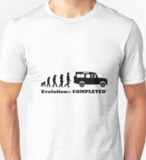 Evolution:- COMPLETED Land Rover Defender Unisex T-Shirt