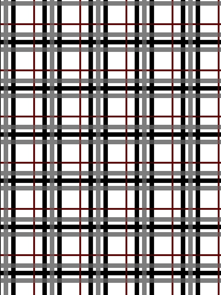 Black White and Red Plaid by ValerieDesigns