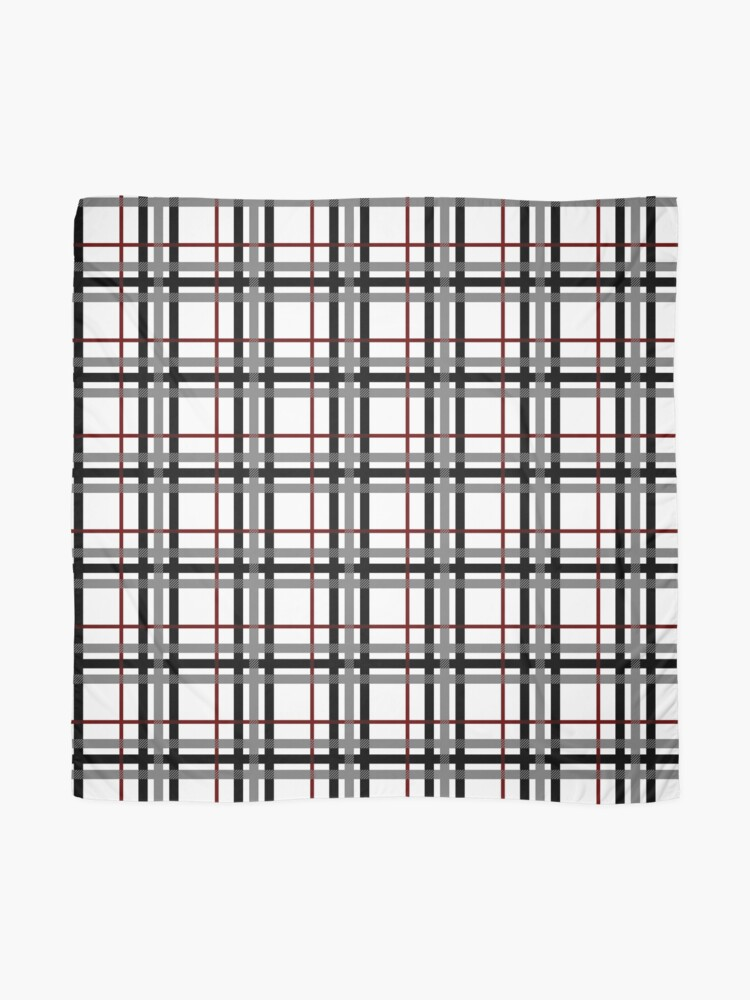 Alternate view of Black White and Red Plaid Scarf