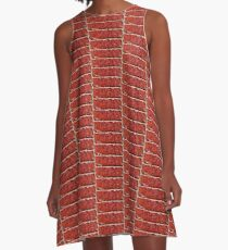 One Brick Man / Red Stone A-Line Dress