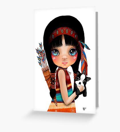 Native Girl Greeting Card