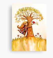 tree hugs Canvas Print