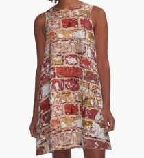 Wall Of Old Red Brick A-Line Dress