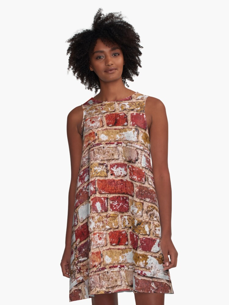 339ef94b03 Wall Of Old Red Brick A-Line Dress. Designed by gnoul4400
