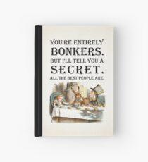 Cuaderno de tapa dura Alicia en el país de las maravillas - Tea Party - Estás completamente loco - Cita