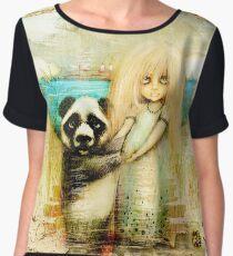 Panda and Snowdrop Chiffon Top