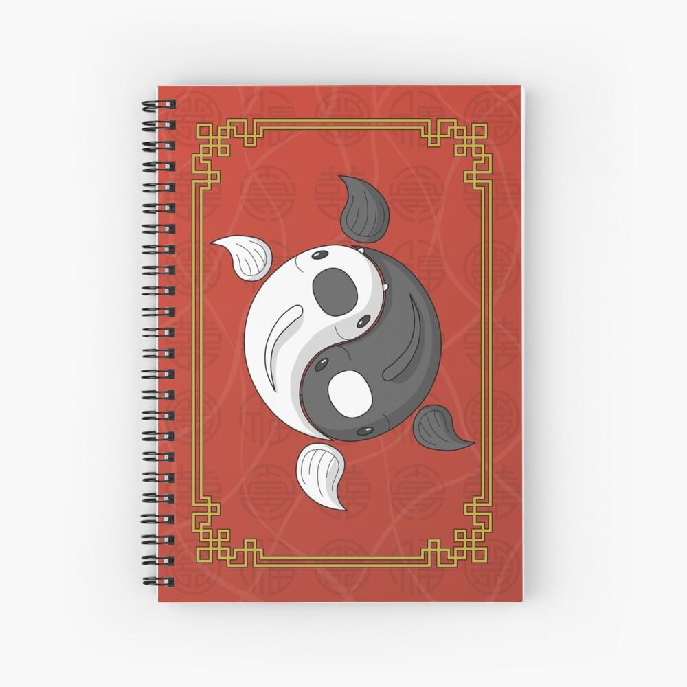 Yin and Yang the Koi Spiral Notebook