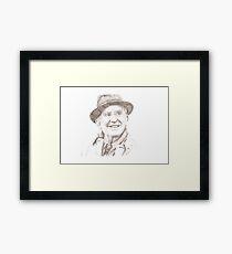 J. R. R. Tolkien in hat Framed Print
