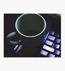 Forgotten Coffee  Photographic Print