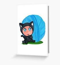 """""""Cat"""" Baby Greeting Card"""