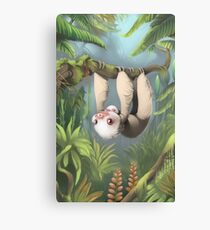 Sloth with Baby Canvas Print