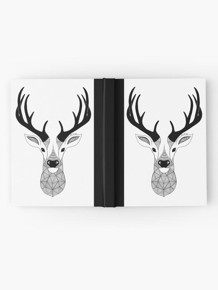 Vista alternativa de Cuaderno de tapa dura Negro y White Deer