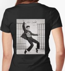 ELVIS, Presley, Jailhouse Rock, King of Rock and Roll, Dance Womens Fitted T-Shirt