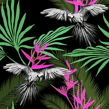 Tropical jungle black by Lelyely