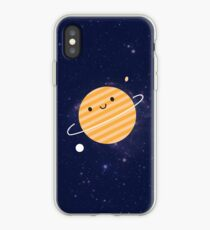 Happy Planet in Space iPhone Case