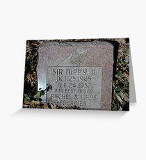 Sir Nippy II Greeting Card
