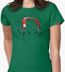 Zapped Magnet Womens Fitted T-Shirt